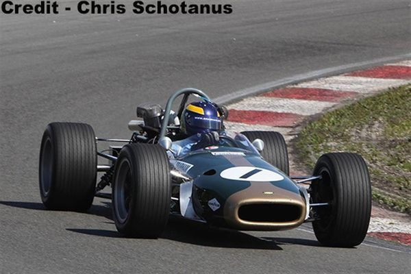 Hall and Hall's Brabham cars on display at Race Retro