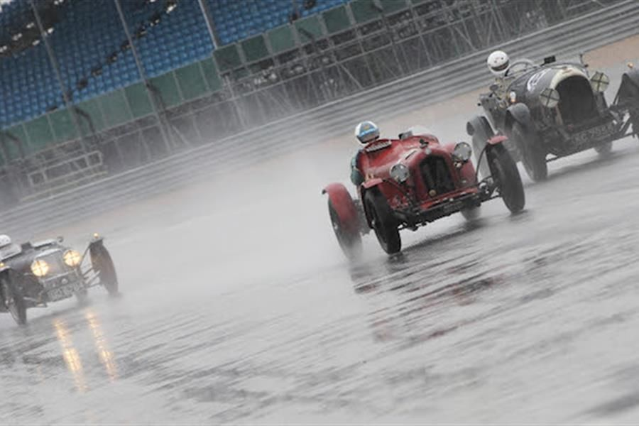 Singing in the Rain at Silverstone Classic