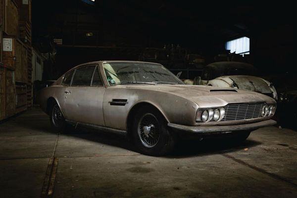 Aston Martin emerges 30 years hibernation in island barm
