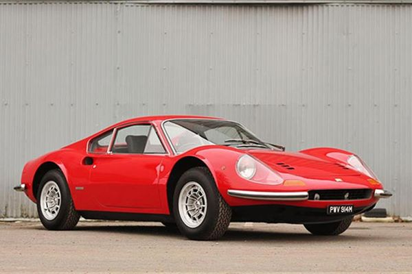 1974 Ferrari Dino 246 GT and 1998 Ferrari F355 Berlinetta on offer at Race Retro