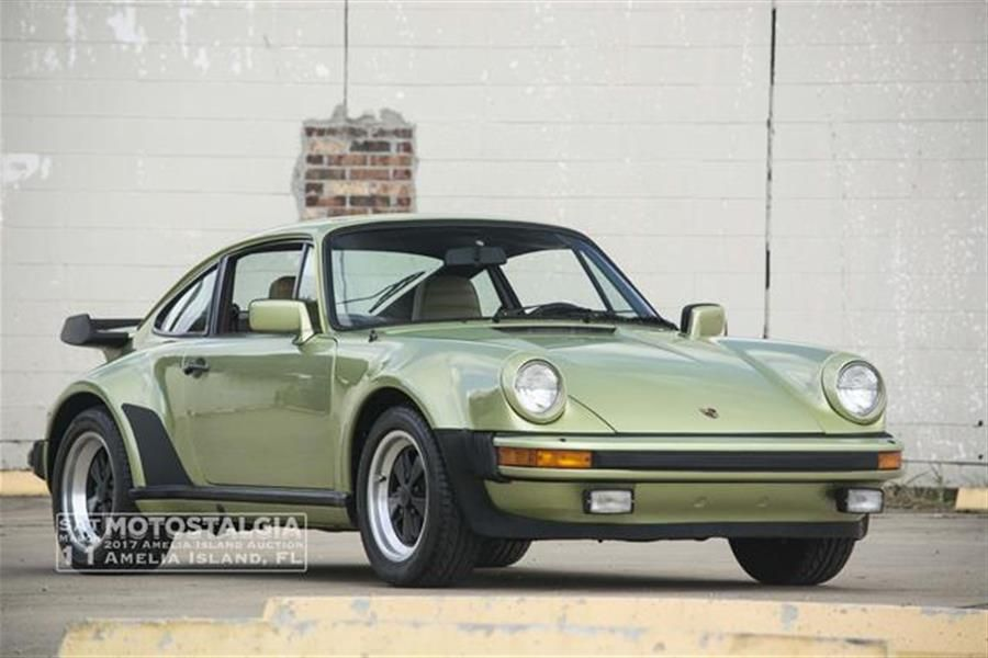 Light Green Metallic 1979 Porsche 911 Turbo at Motostalgia Amelia