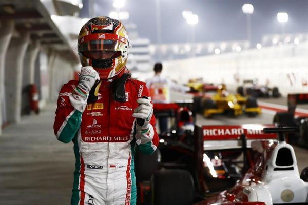 Charles Leclerc takes F2 pole in Bahrain