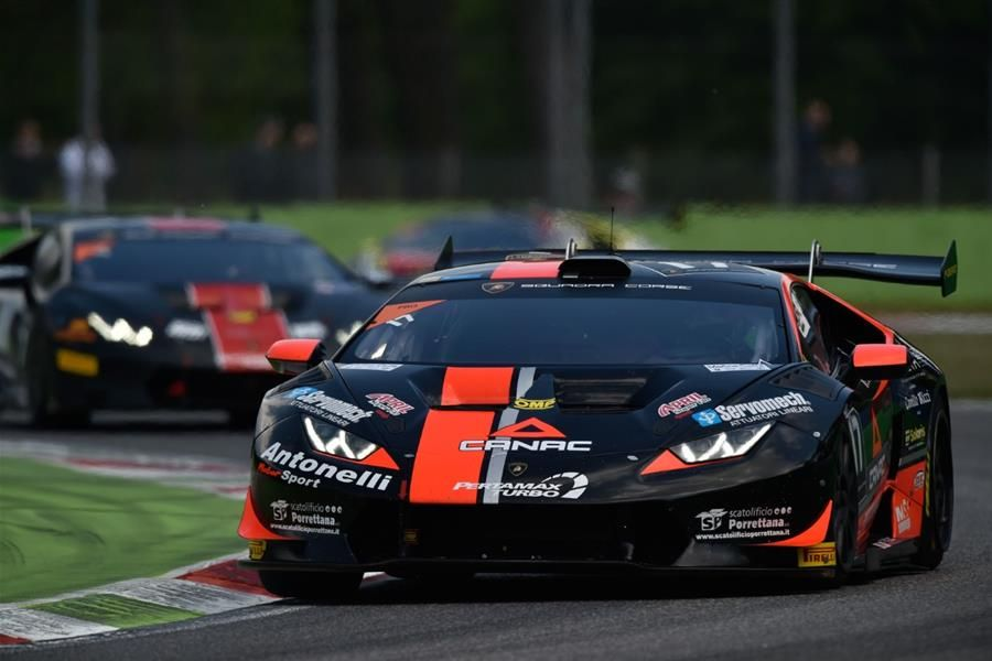 Spinelli and Grenier win Lamborghini Super Trofeo Europe Race 2 at Monza