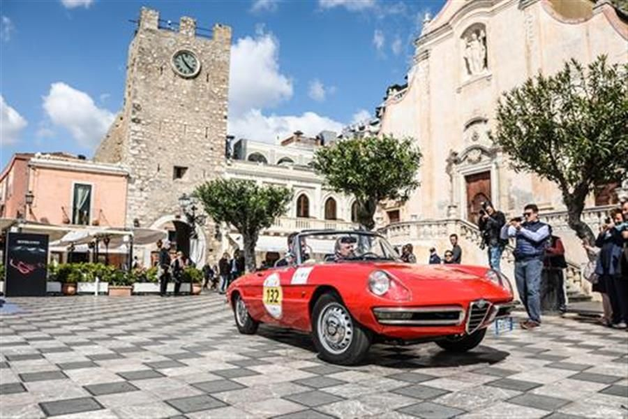 Alfa Romeo showcases racing heritage at Targa Florio