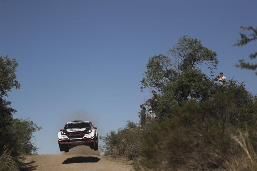 Elfyn Evans built a surprise Friday lead at YPF Rally Argentina