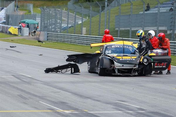 Huge accident ends ADAC GT Masters weekend for Alex MacDowell in Austria