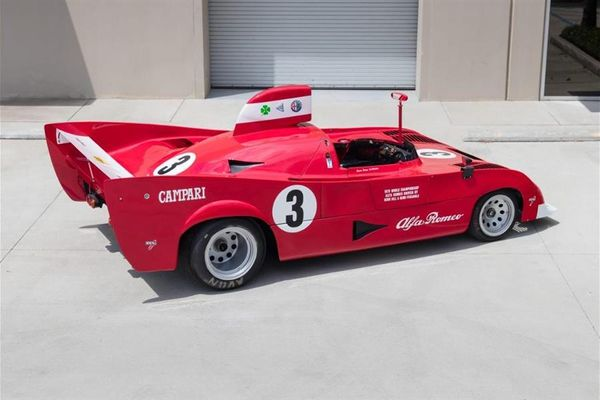 1975 Alfa Romeo Tipo 33 TT 12 on offer at Goodings Pebble Beach Auction