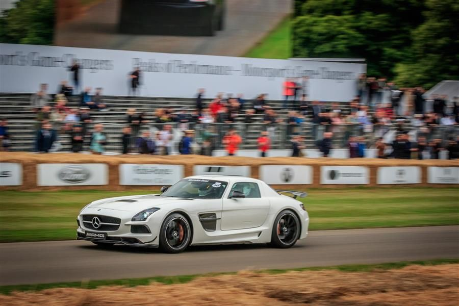 Modern and classic AMGs climb Goodwood Hill in celebration of 50 years of AMG