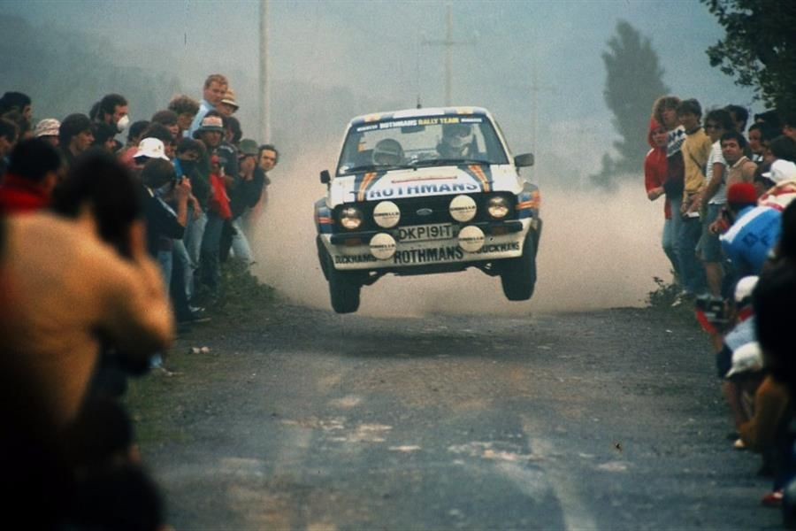 Rally God Ari Vatanen behind the wheel of an RS1800 in Glasgow's Ignition
