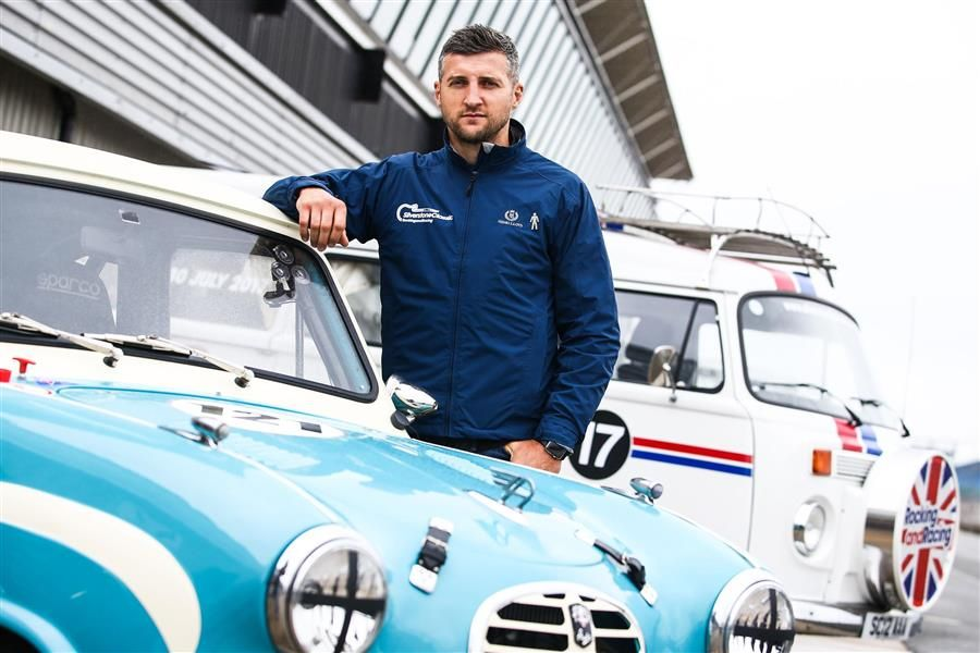 Boxing Champ Carl joins Sky Sports team on celebrity grid for Silverstone Classic