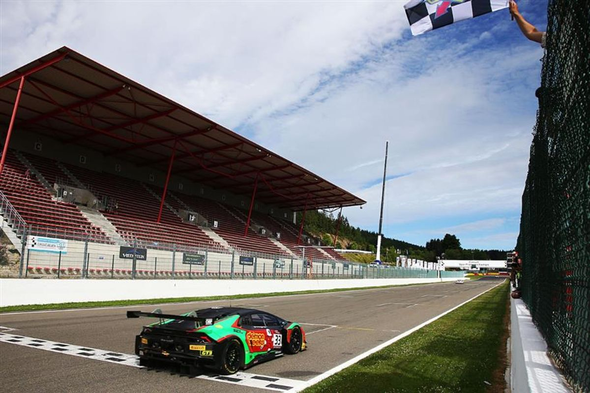 Lamborghini Huracan GT3 wins at Spa and strengthens leadership in British GT
