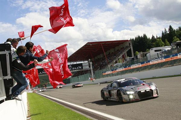Audi celebrates fourth victory in 24 Hours of Spa