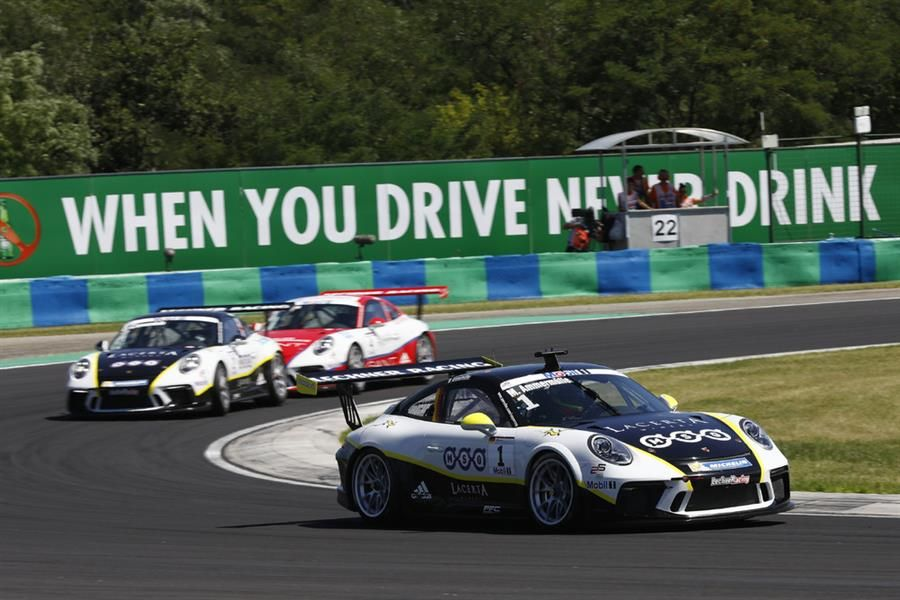 Ammermuller wins Porsche Mobil 1 Supercup Hungary and extends overall lead