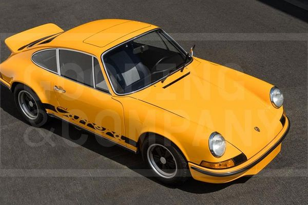 Ex Nicolas Cage 1973 Porsche 911 Carrera 2.7 RS Touring on offer at Pebble Beach