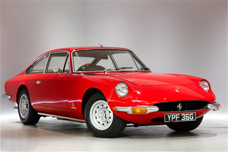 1968 Ferrari 365 GT 2+2 on the blocks at Silverstone Auctions Salon Prive Sale
