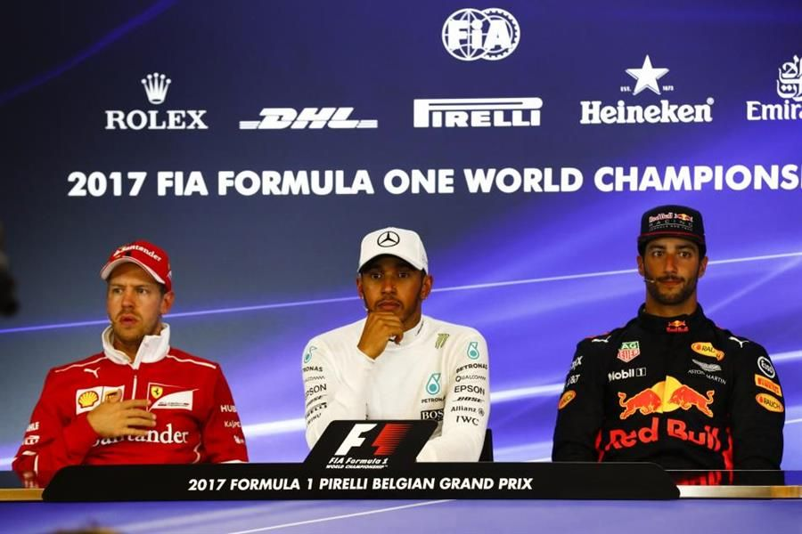 Belgian Grand Prix Winners Conference