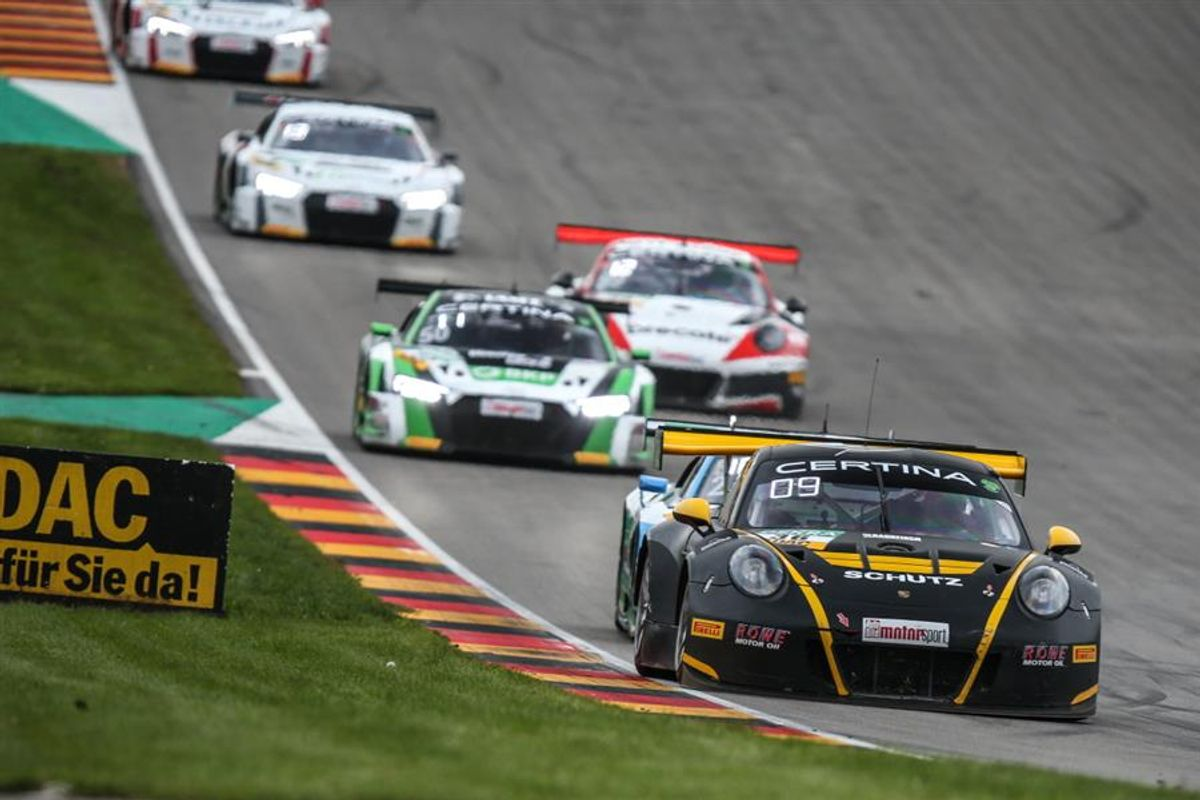 Strong finish for Alex MacDowall on penultimate weekend of ADAC GT Masters