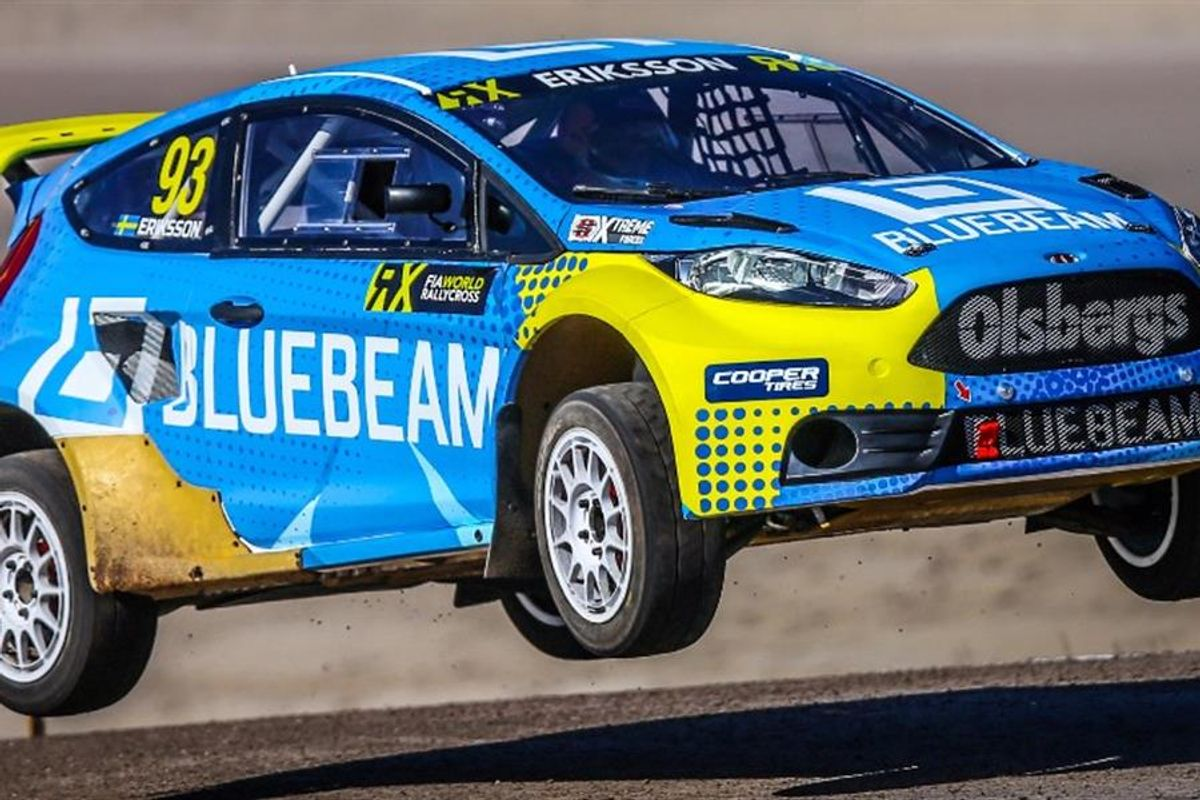 Eriksson enters World RX of Germany in Bluebeam-sponsored Ford Fiesta