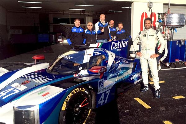 Giuseppe Cipriani and Felipe Nasr test the Dallara P217 Gibson