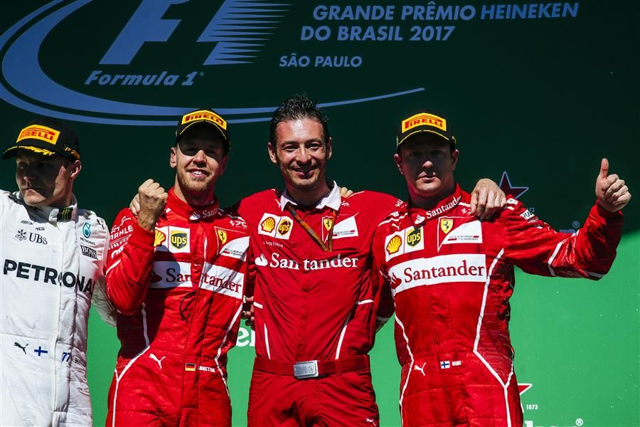 Kimi claims third podium in a row in Brazil