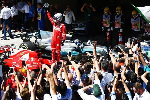 Vettel wins Brazilian GP, Kimi completes double podium for Ferrari
