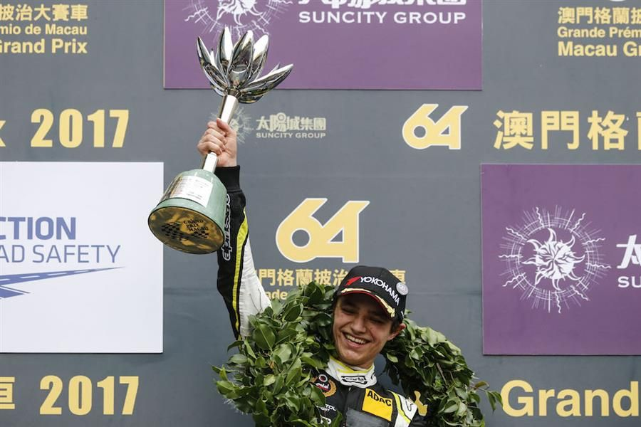Lando Norris signs off from F3 with Macau podium