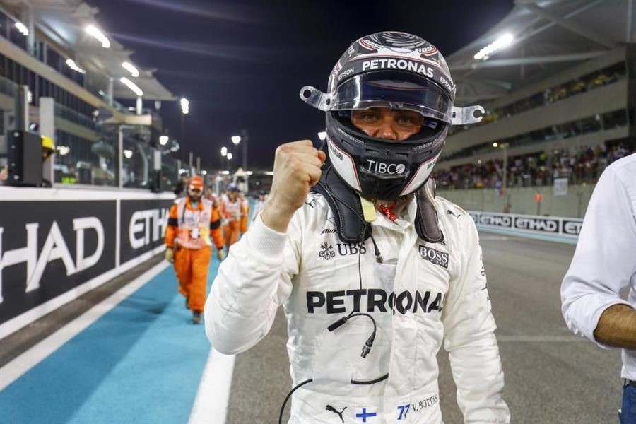 Bottas takes Abu Dhabi pole ahead of team-mate
