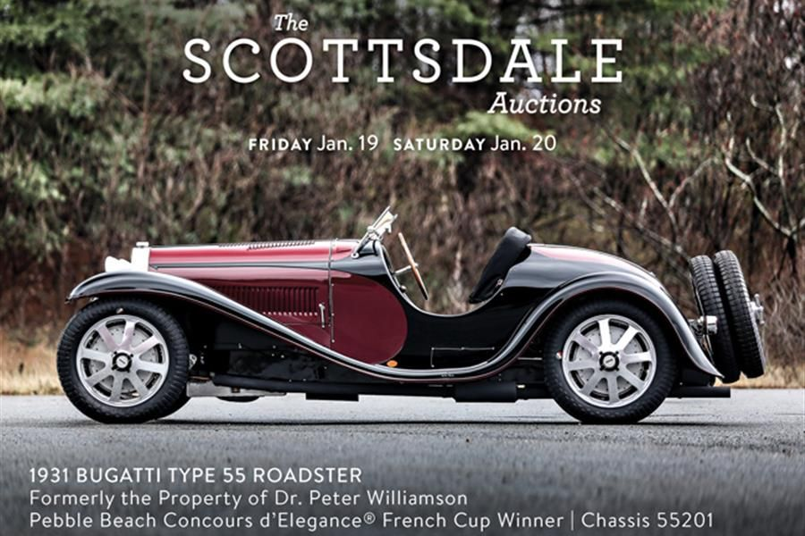 Award winning Bugatti Type 55 Roadster at Scotsdale auction