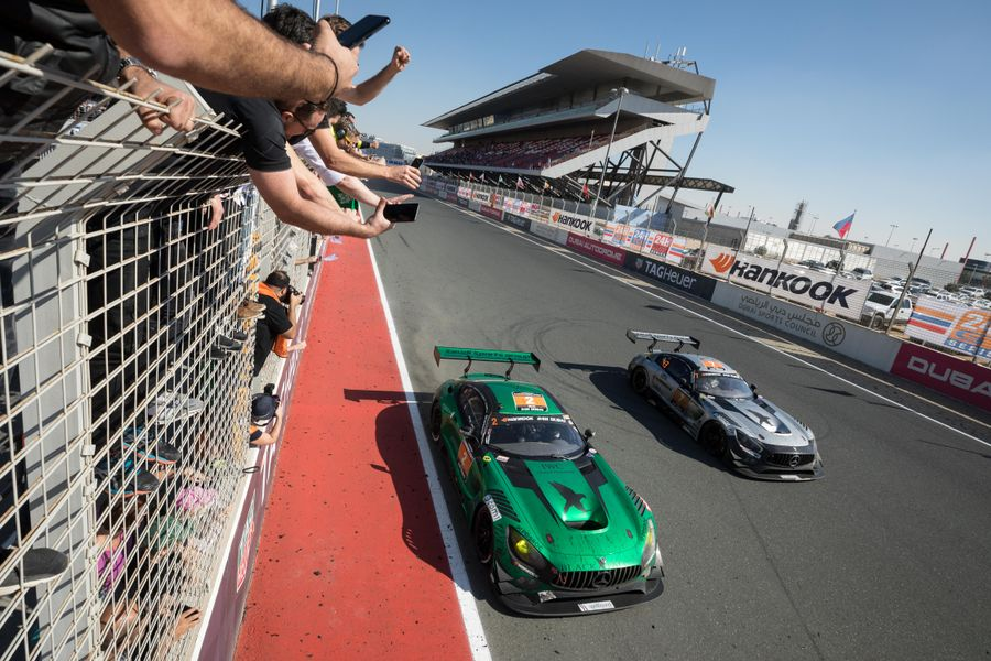 Black Falcon team claims fourth victory at the Hankook 24H Dubai