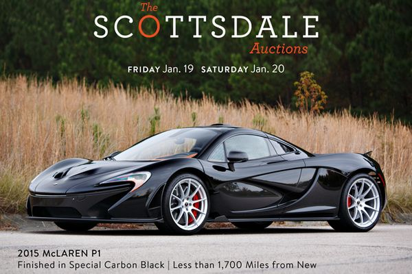 McLaren P1 Finished in Special Carbon Black at Gooding's Scottsdale Auction