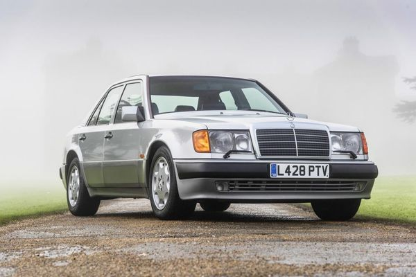 Rowan Atkinsons's Mercedes-Benz 500E Lancia Thema on offer at Silverstone Auctions
