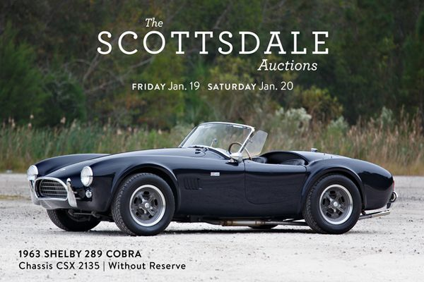 1963 Shelby 289 Cobra Offered Without Reserve at Scottsdale Auction