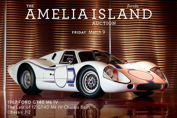 Last GT40 Mk IV Built at The Amelia Island Auction