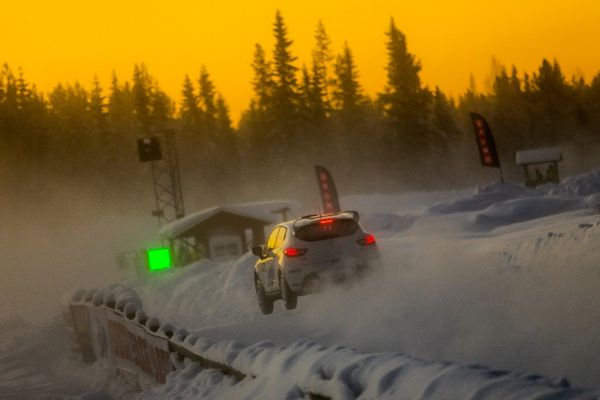 Success for Eriksson as RallyX on Ice makes dazzling debut