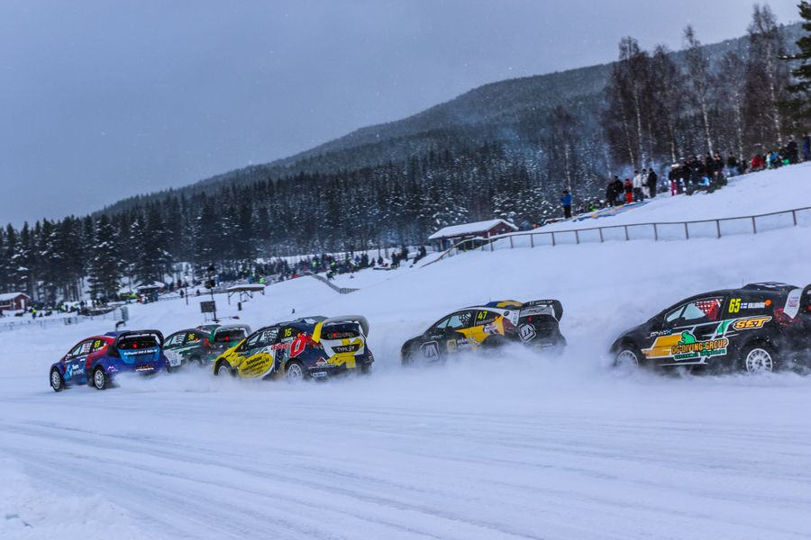 Eriksson wins RallyX on Ice at Höljes
