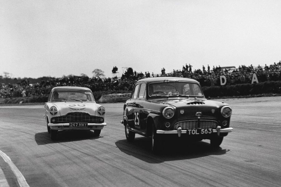 Diamond studded track parade at Silverstone Classic to mark 60 years of the BTCC