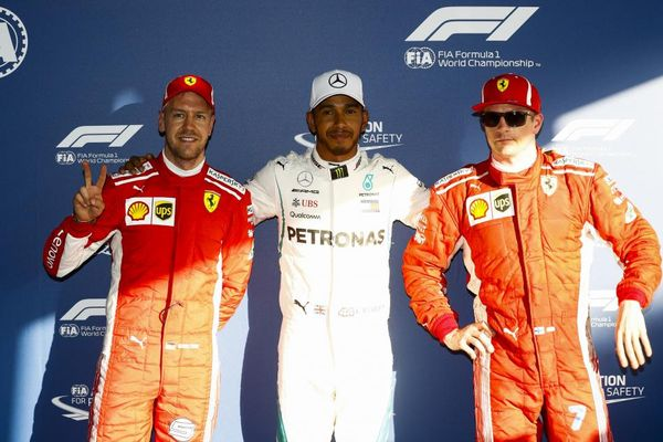 Hamilton pips Kimi to Australian pole, Bottas crashes out