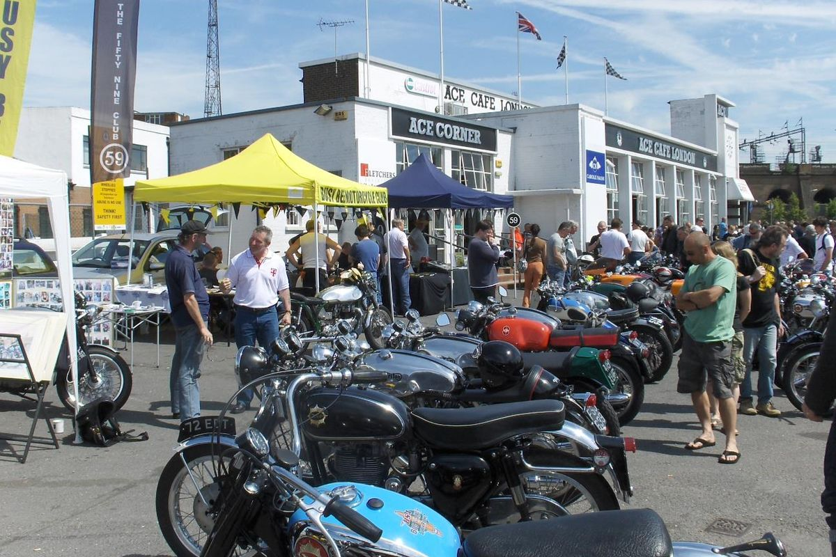 Ace Cafe celebrates its 80th birthday at the Silverstone Classic