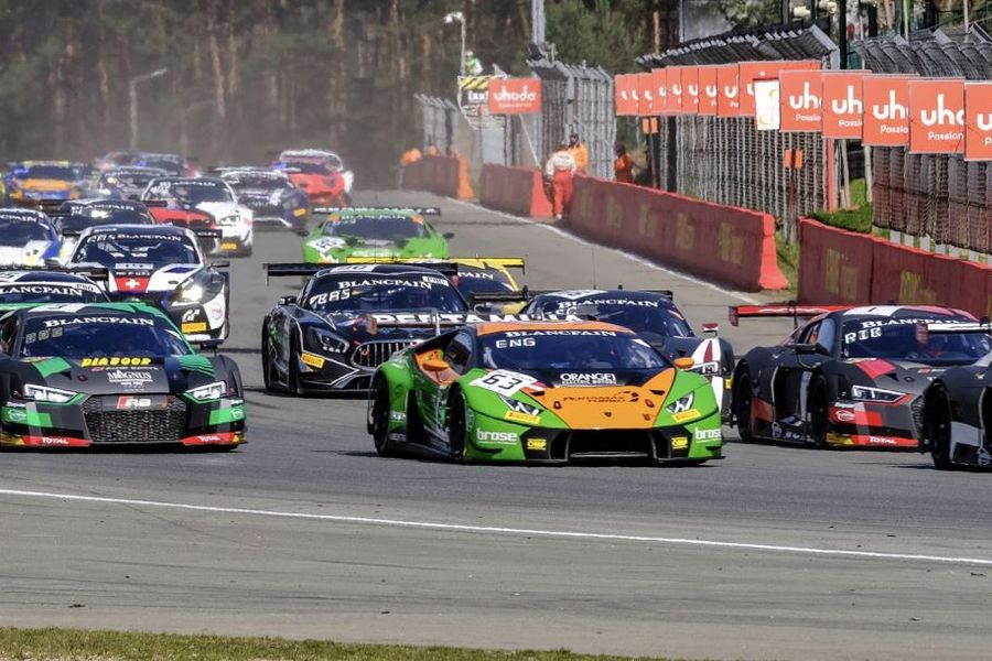 Bortolotti and Engelhart begin Blancpain GT title defence with Zolder victory