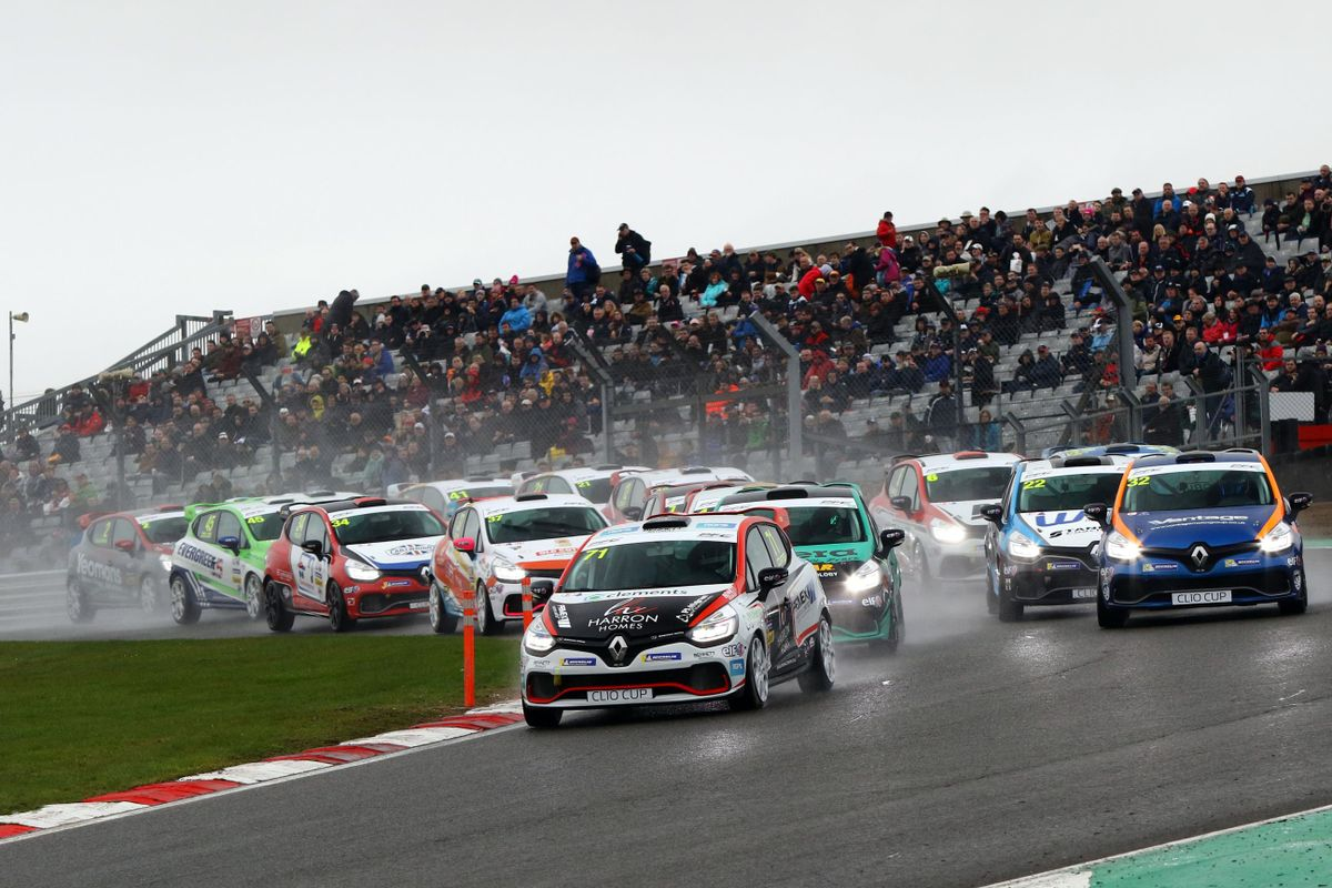 Wins for Rivett and Coates in Clio Cup openers at Brands Hatch