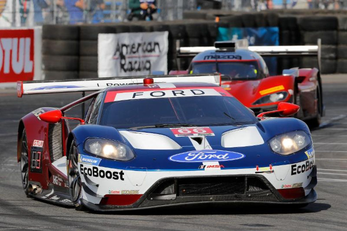 Hand Takes GTLM Pole with Record Last Lap in BUBBA burger Sports Car GP