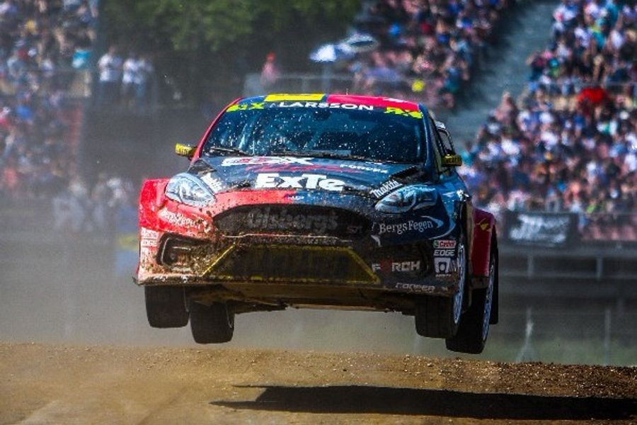 Larsson and Eriksson on the pace at new Fiesta ST RX debut