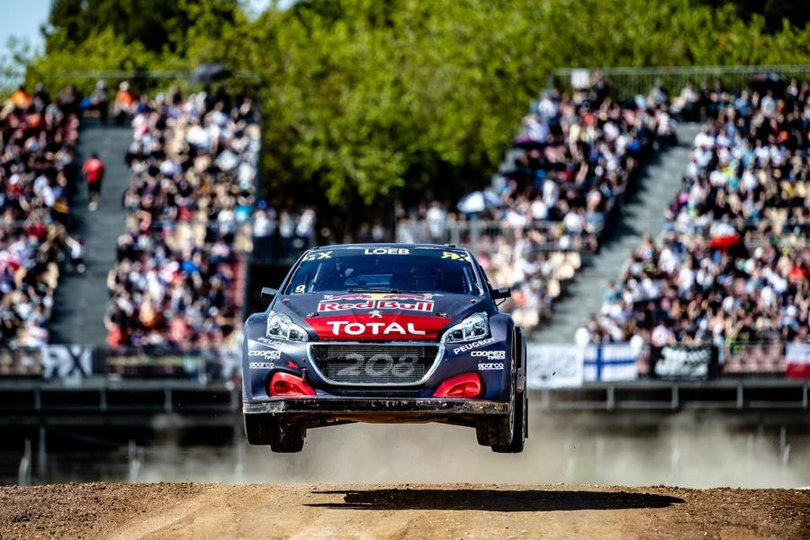 Podium for Team PEUGEOT Total on all action Rallycross debut