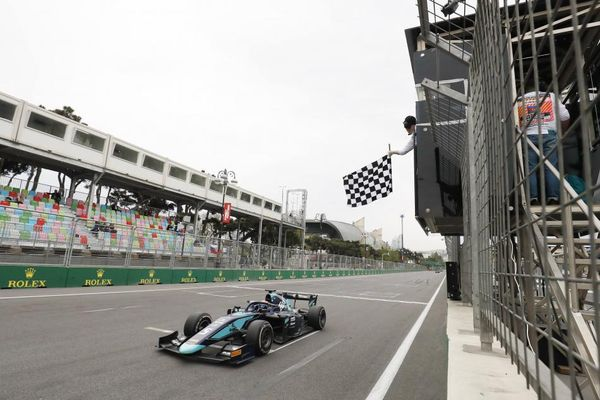 Albon wins F2 Feature Race of Baku thriller