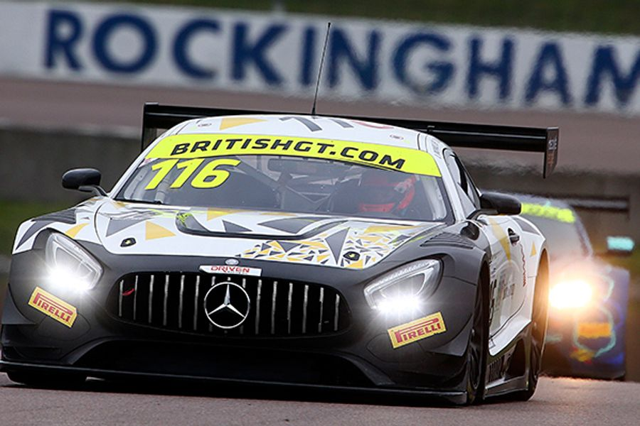 Mowle and Buurman win from the back as HHC claim GT4 spoils at Rockingham British GT