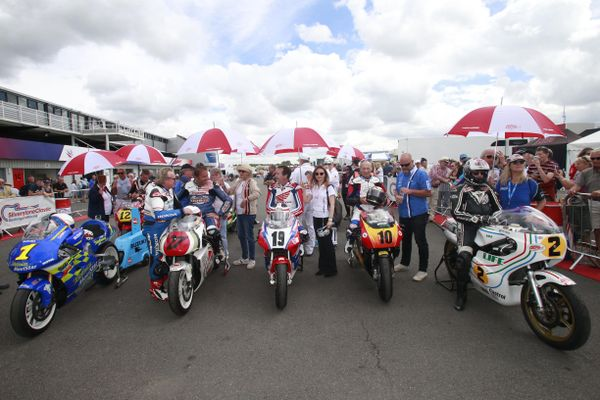 Bike legends out in force at Silverstone Classic
