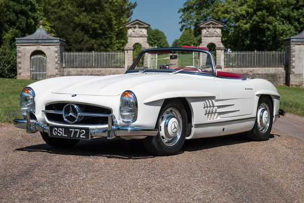1958 Mercedes 300SL Roadster first entry in Silverstone Classic Sale