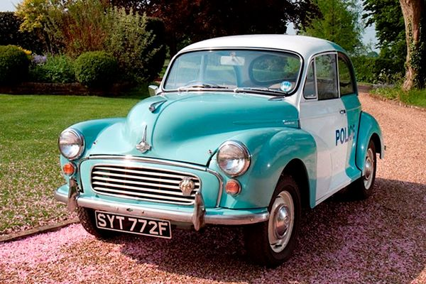 Ex-Scotland Yard Morris Minor Panda Car at Barons British Heritage, Classic and Sports Cars sale