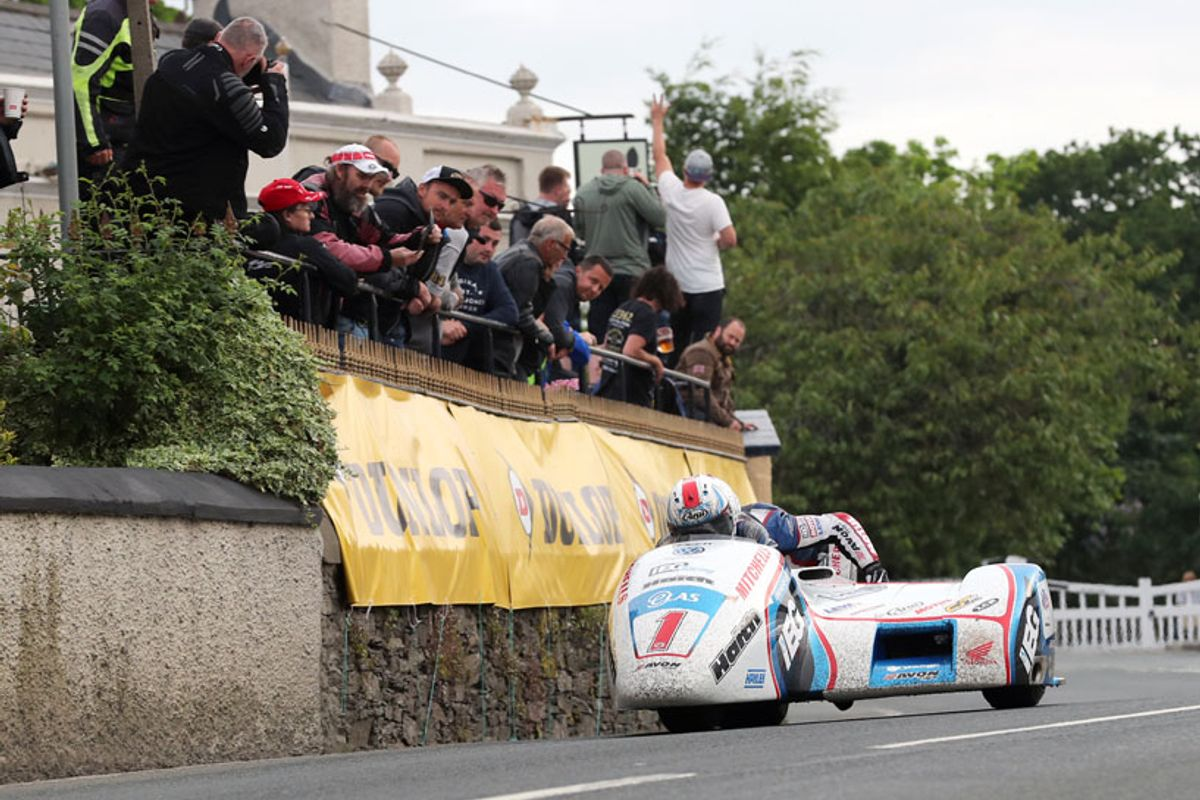 Birchalls blitz lap and race records in IOM Sidecar TT Race 1