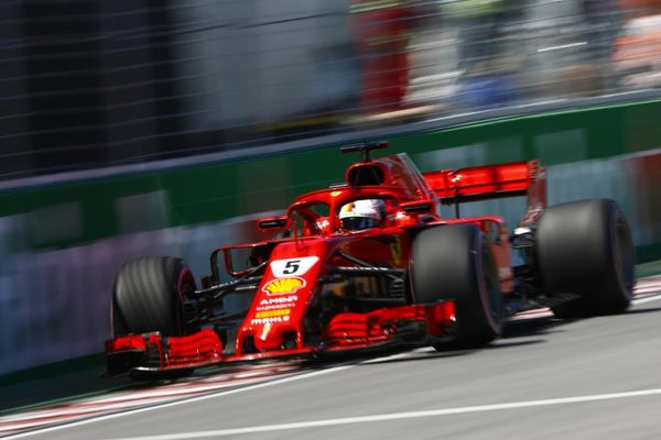 Vettel on pole in Canada